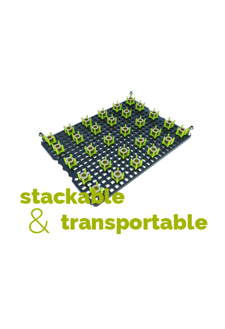 stackable und transportable