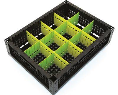 indBox: cassetta con divisori per scomparti
