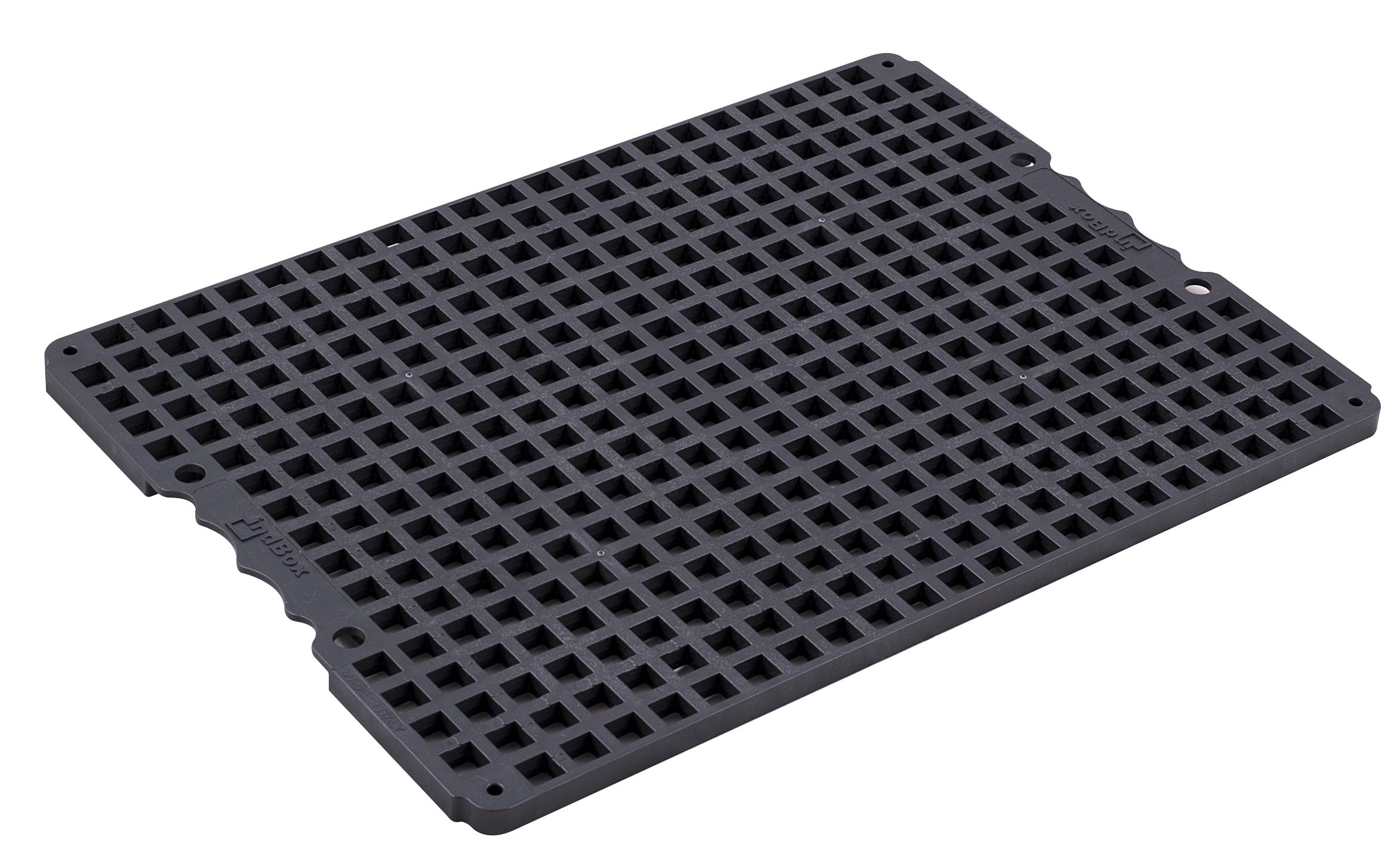 indBox - piastra portapezzi con griglia