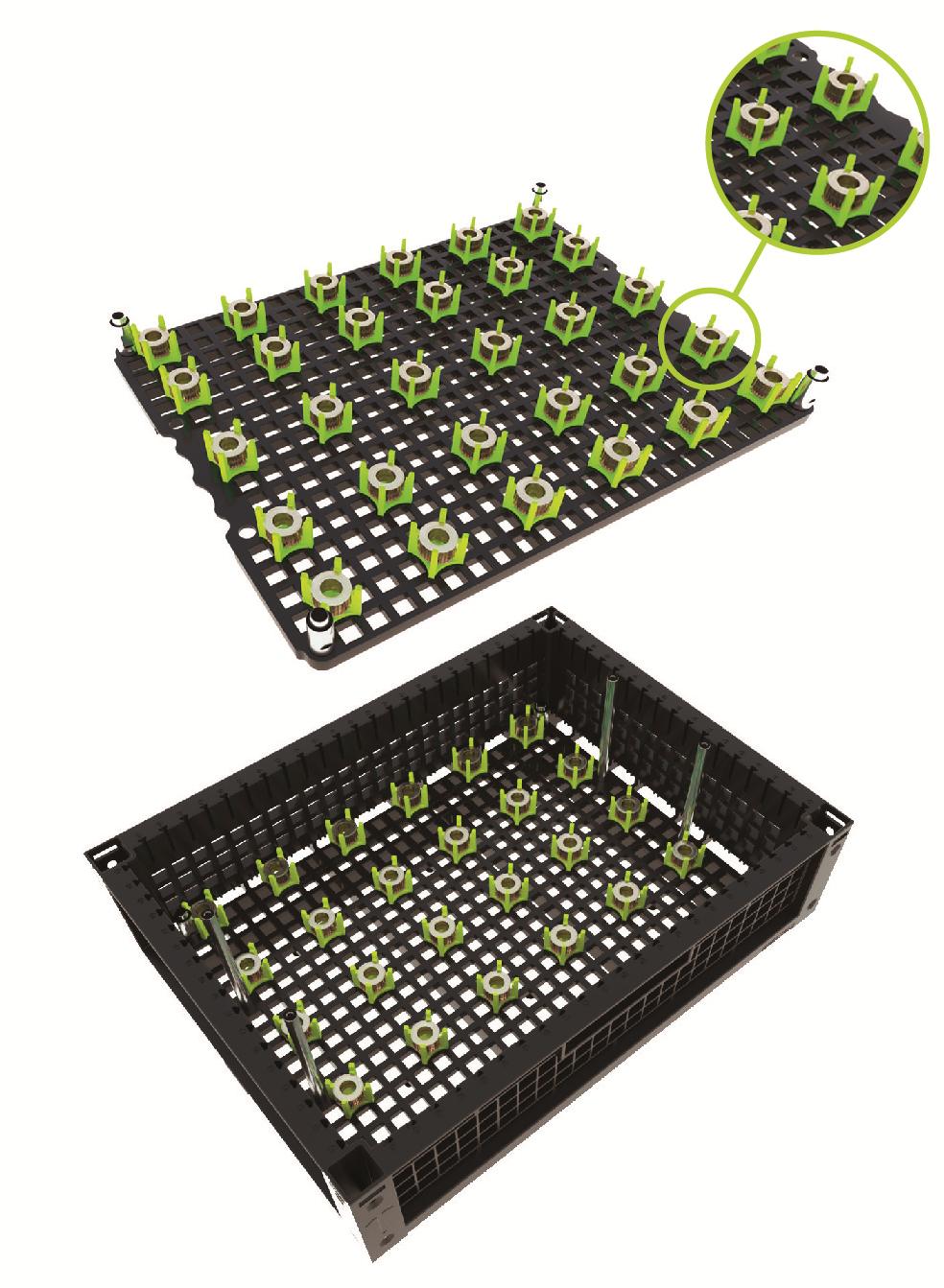 indBox - box e piastra portapezzi con pin e clip