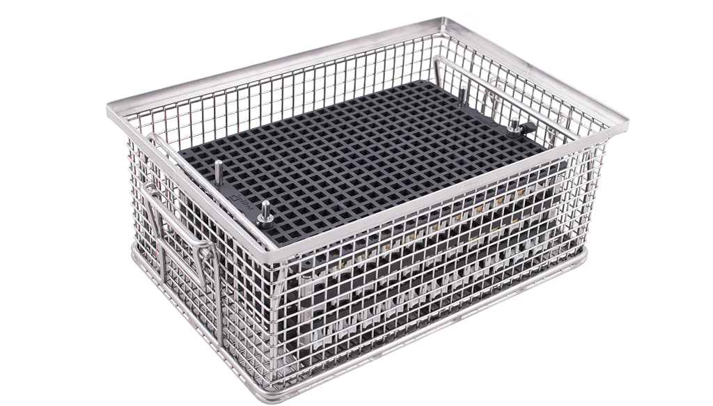 indBox: stainless steel baskets for industrial part cleaning