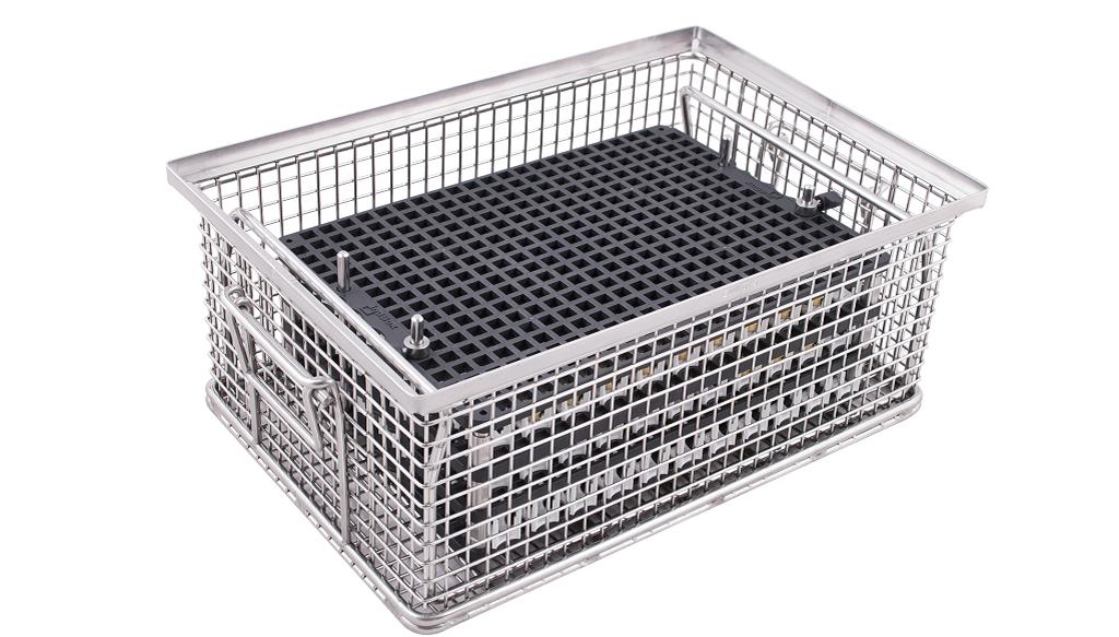 indBox: Reinigungskorb für Trays und Positionierung Setzware