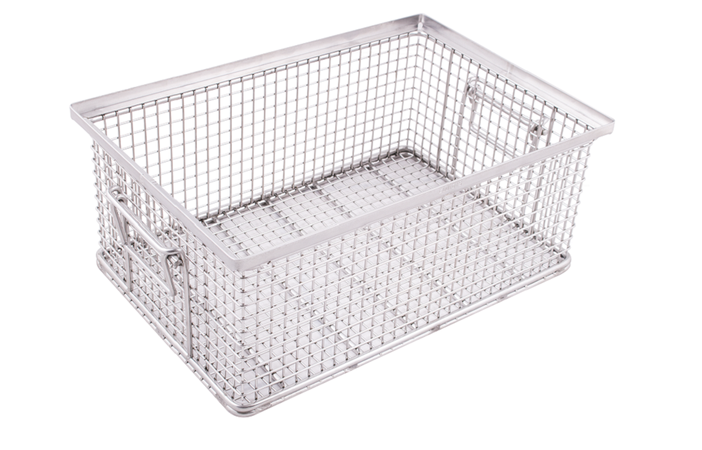 indBox: industrial cleaning mesh baskets, customizable
