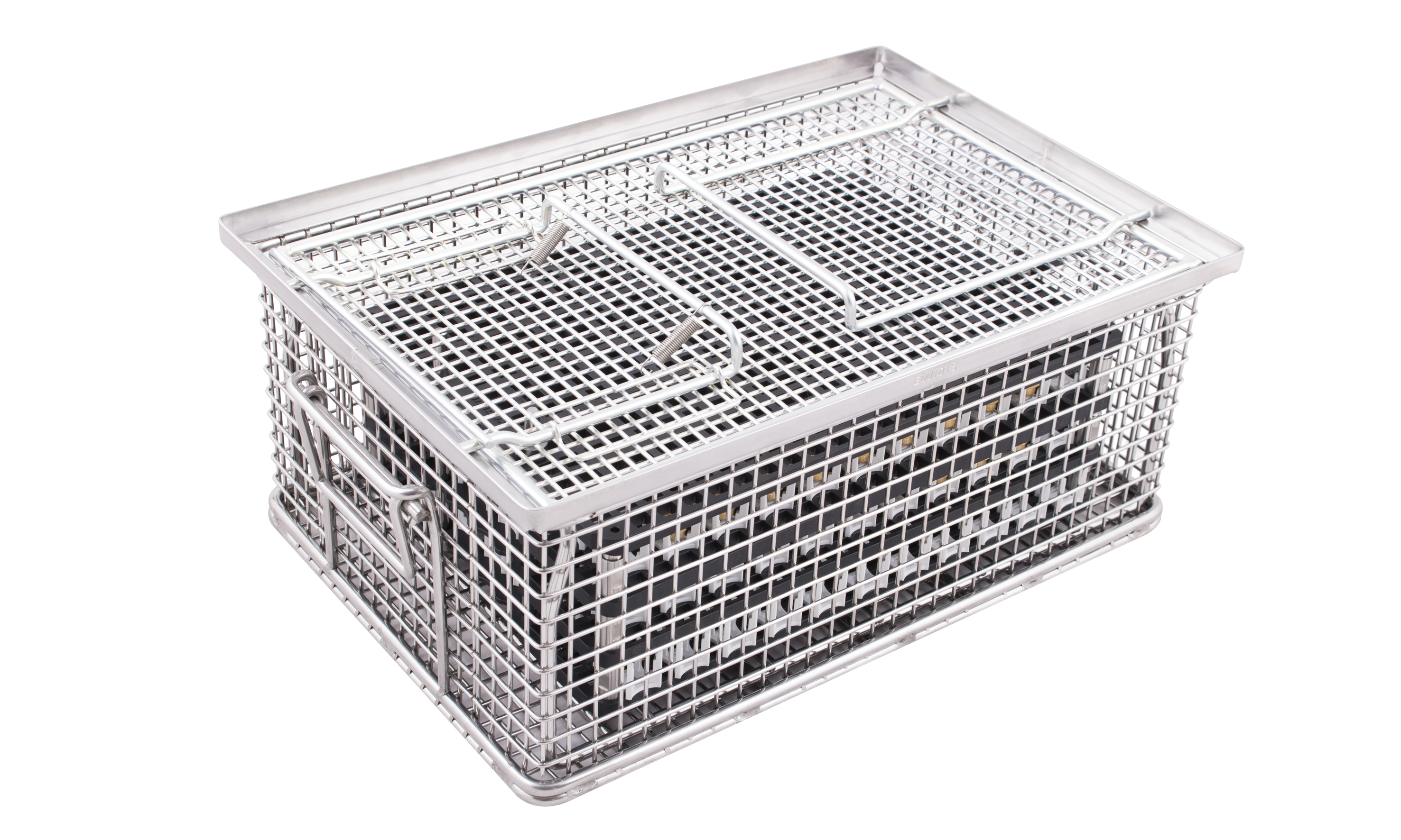indBox: industrial part cleaning: cleaning baskets in stainless steel with lid